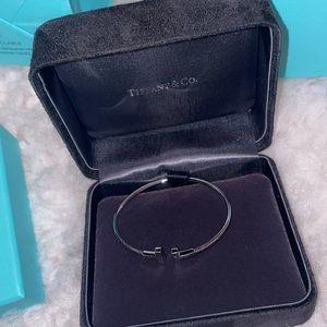 Tiffany T wire bracelet 18k white gold medium